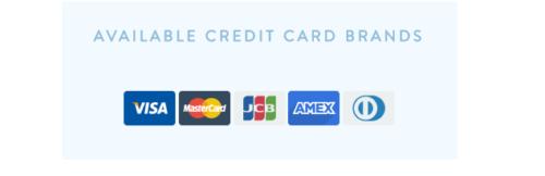 バスケットで使えるクレジットカードの種類