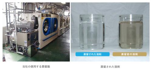 ピュアクリーニングプレミアムの溶剤蒸留器