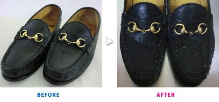 撥水加工を加えれば、靴を雨や汚れから守れる