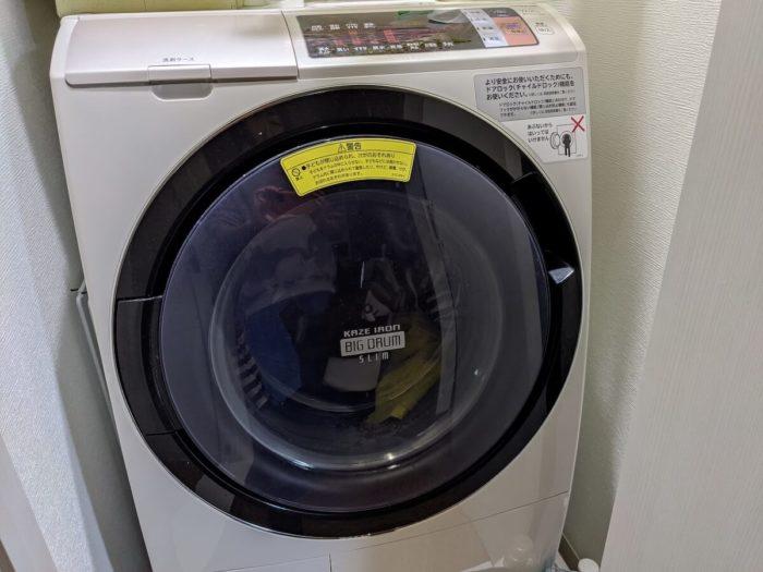 布団が入るなら自宅の洗濯機でも洗える。
