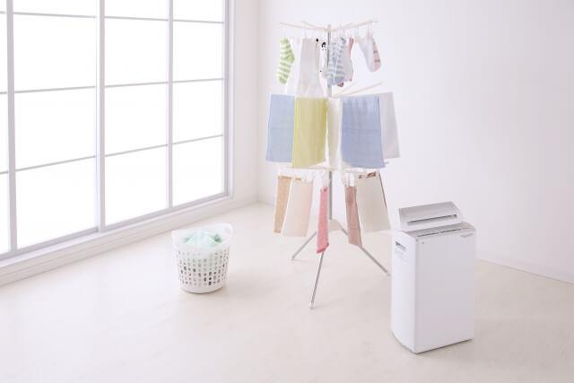 除湿機とサーキュレーターまたは扇風機は部屋干しの強い味方