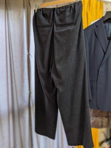 仕事に頻繁に着ていくウール100%のガウチョパンツ。ちょうど汚れてきたなあと感じるタイミングだった。
