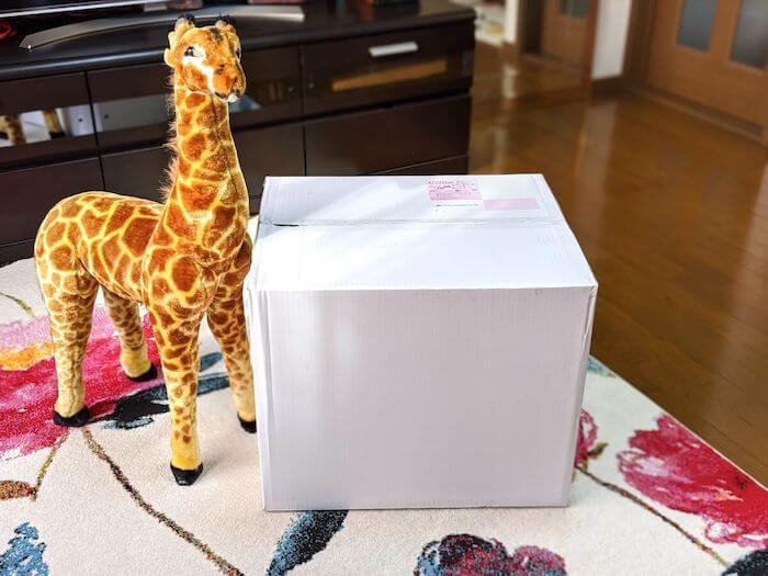 クリコムの箱はシンプルで白い。ロゴも入っていない