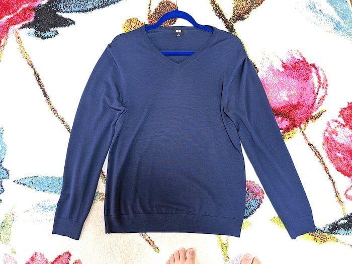 UNIQLOのいい素材のセーターです。目立つ汚れはありません。 何回も着たのでクリーニングに出したくなりお願いしました。