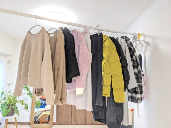 冬物衣類10点の量
